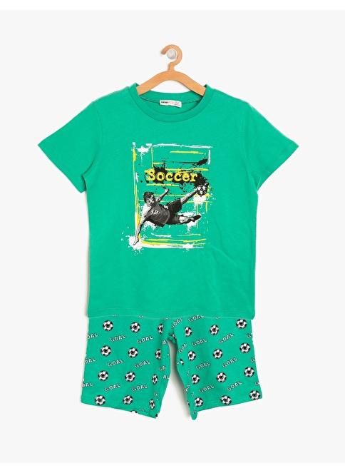 Koton Kids Pijama Takım Yeşil